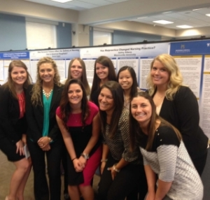 Nursing students on poster day