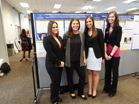 Students presenting their research posters