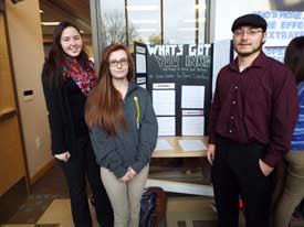 Students present research on the perception of people with tattoos
