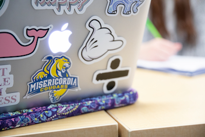 Laptop with decals
