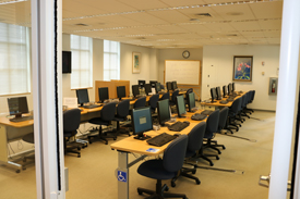 Library's second floor computer lab